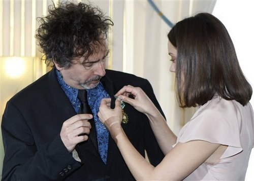 Tim burton and Marion Cotillard get French Honour