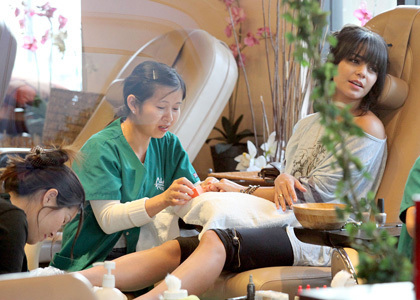 Vanessa At A Nail Salon