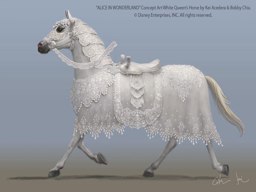 White Queen's Horse Concept Art