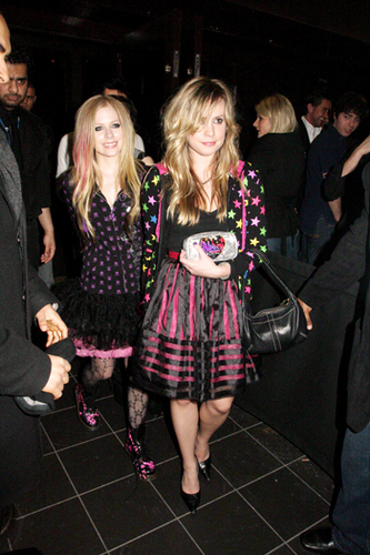 avril and friend <