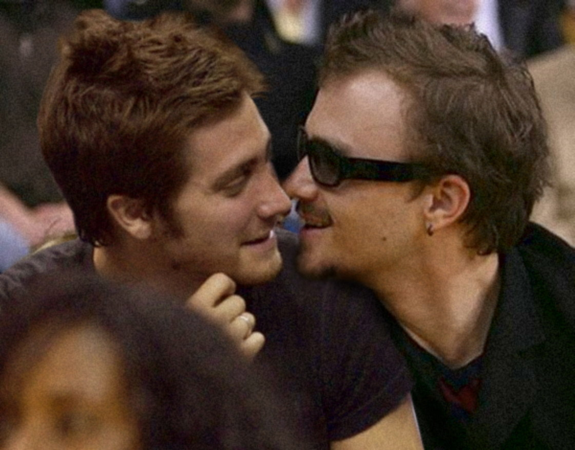 heath and jack kiss - Jake Gyllenhaal Photo (10900857 ... Joseph Gordon Levitt Single