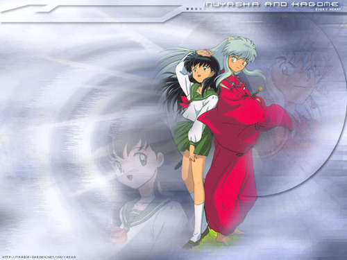 inuyasha and kagome _ in_the_wind
