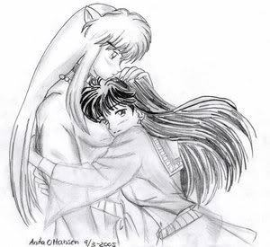 Inuyasha and kagome l'amour