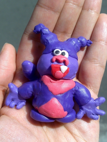 my son luke made sup krim out of clay =)
