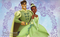 tiana and naveen.after wedding - the-princess-and-the-frog wallpaper
