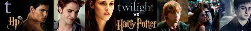 twilight vs harry potter banner