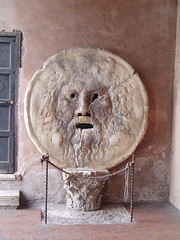 The Mouth Of Truth On Display In Rome,From The Film Roman Holiday