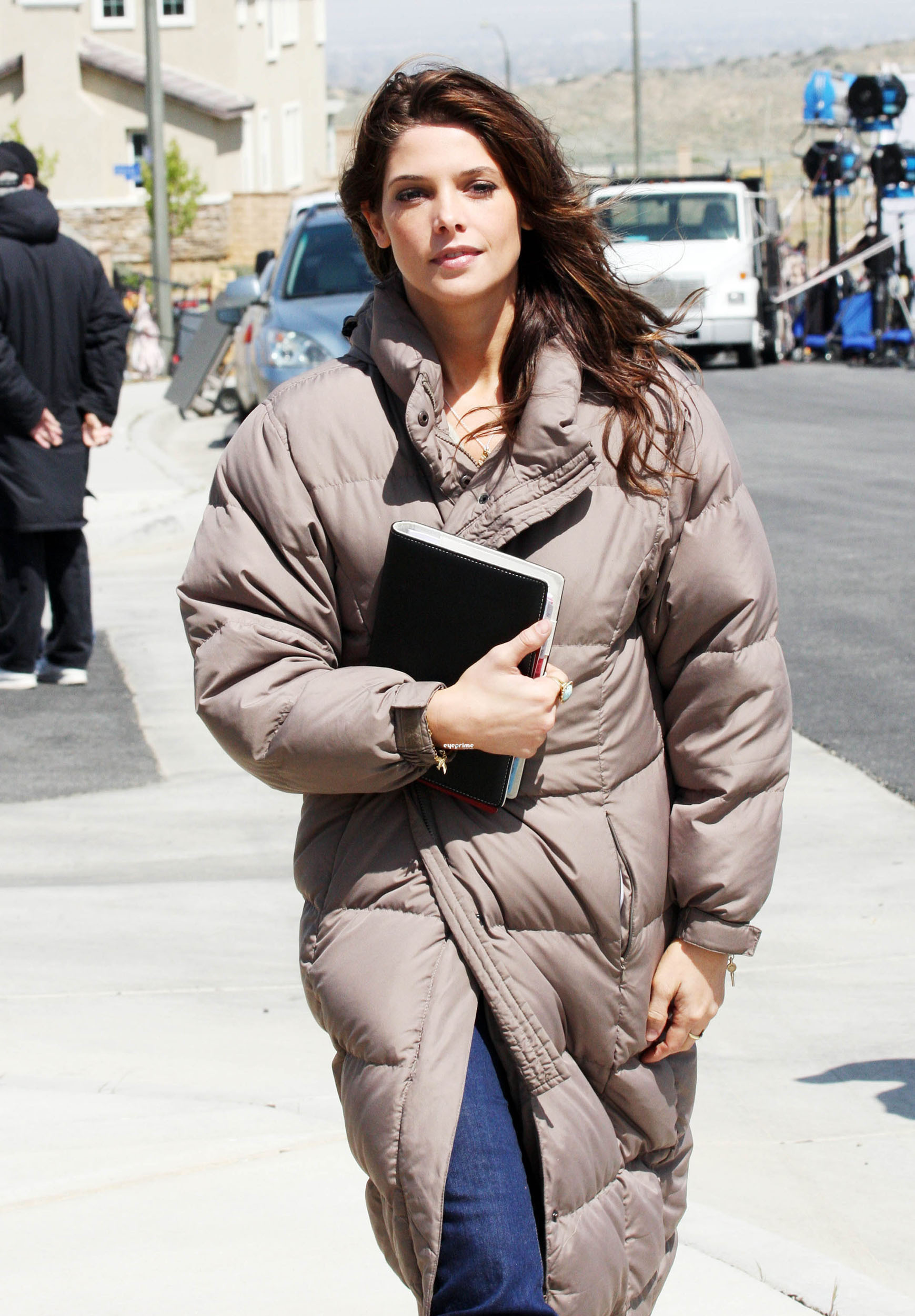 "Ashley Greene on the set of her new movie ""The Apparition"""