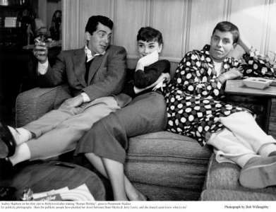 Audrey with Dean and Jerry - audrey-hepburn Photo
