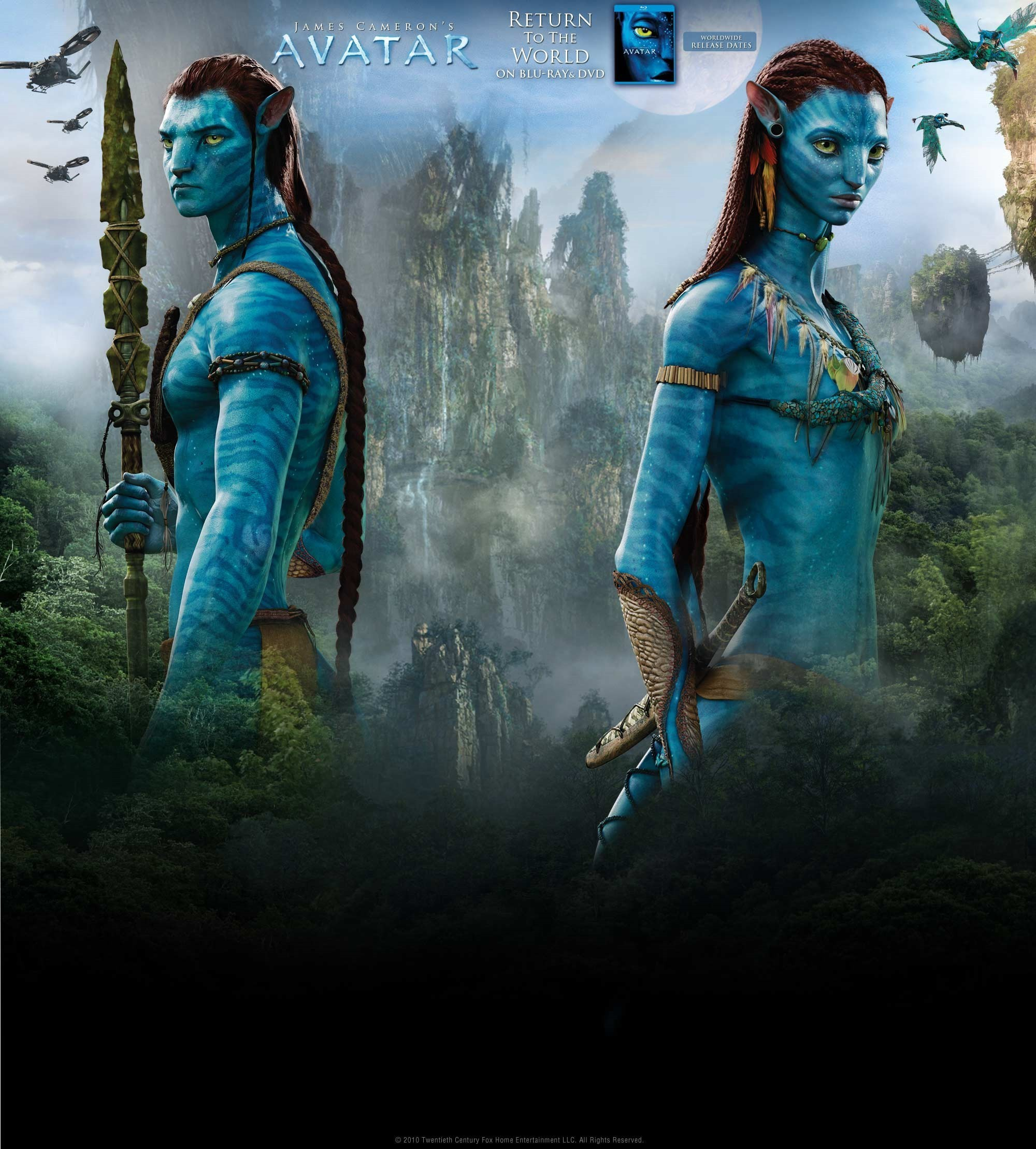 Pictures From Avatar: Avatar Blu-Ray & Dvd Promo