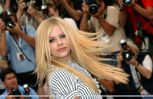 Avril, hair blowing :)