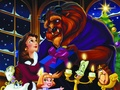 disney-couples - Belle and Beast wallpaper