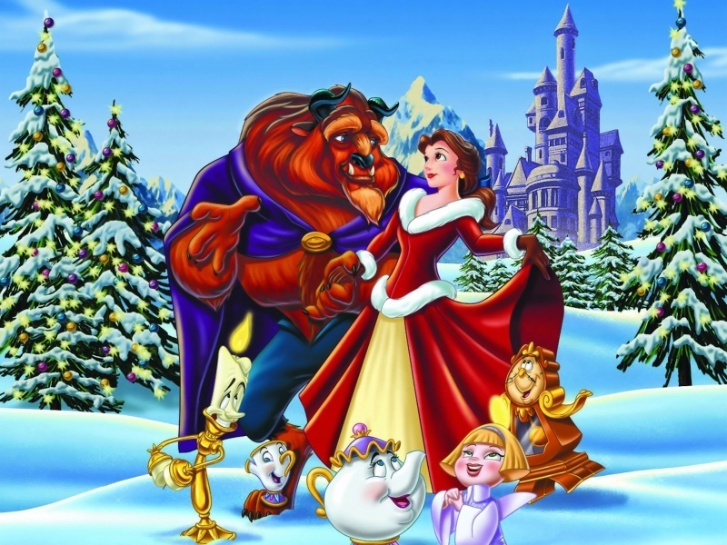 Coppie Disney Wallpaper Titled Belle And Beast