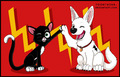 Bolt and Mittens High Five - bolt-disney fan art
