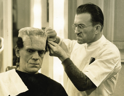 Boris Karloff. Frankenstein make up