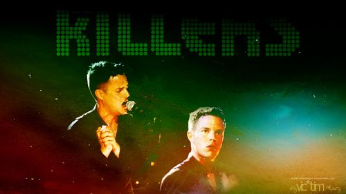 Brandon Bunga Killers logo kertas dinding