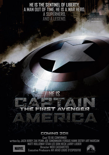 The First Avenger: Captain America wallpaper entitled Captain America Poster (Fan art)