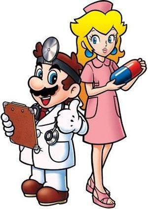 DR mario and Nurse pfirsich