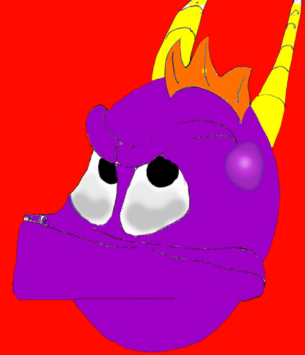 Drawn Spyro: 2nd attempt