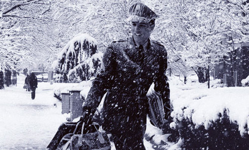 Elvis Walking In The snow
