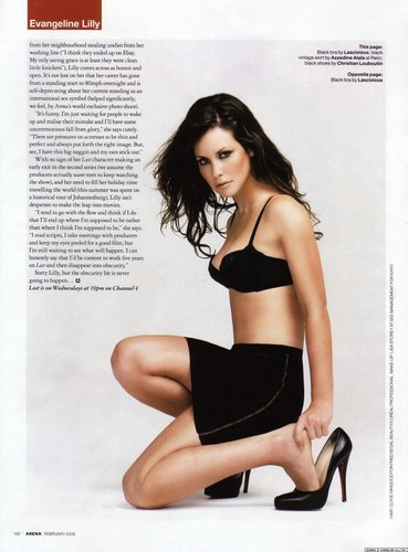 Evie* Arena magazine.