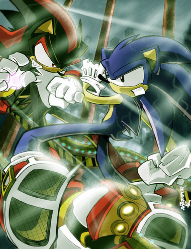 Explosive Fight - shadow-the-hedgehog Photo