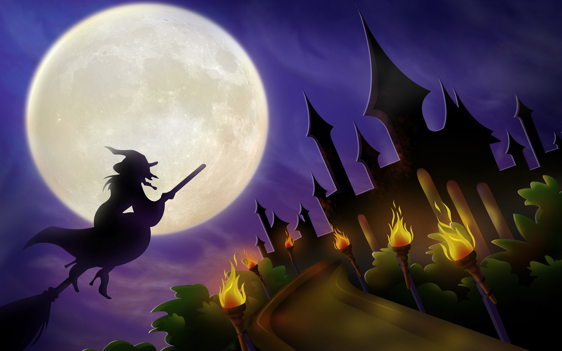 Castello Halloween.Halloween Castello Fantasy Wallpaper 11064561 Fanpop