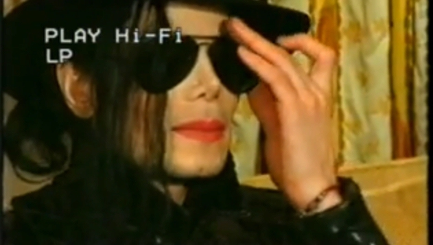 MJ during interview - michael-jackson photo