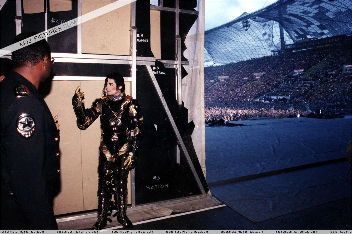 MJ on stage and backstage