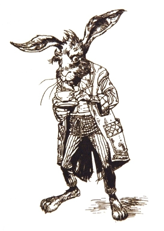Hare Line Drawings March Hare Line Drawing