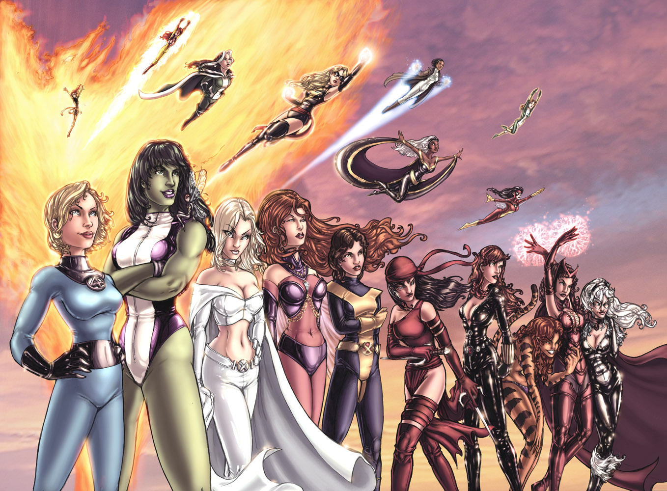 Marvel heroines picture 27