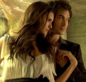 Damon & Elena wallpaper entitled Nina Dobrev and Ian Somerhalder