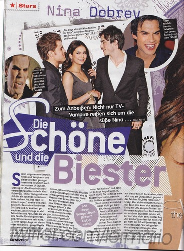 Nina Dobrev - BRAVO GERMANY 12/2010 (Nina's hand on Ian)