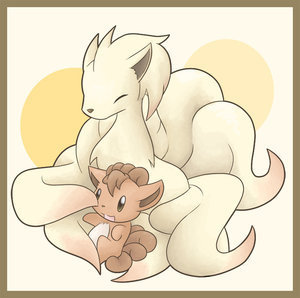 Ninetails and Vulpix! (Awwwwww!!)