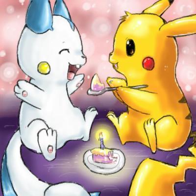 Pachirisu and pikachu pals
