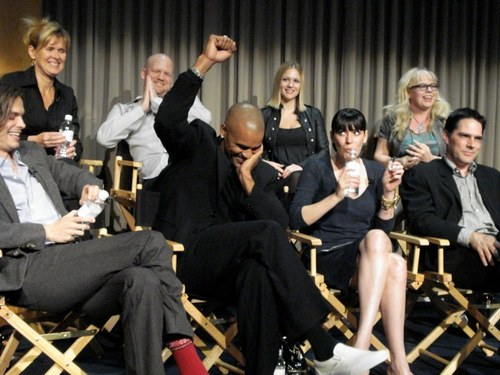 Paget Brewster wallpaper titled Paget and CM cast@Paley Center, 2008