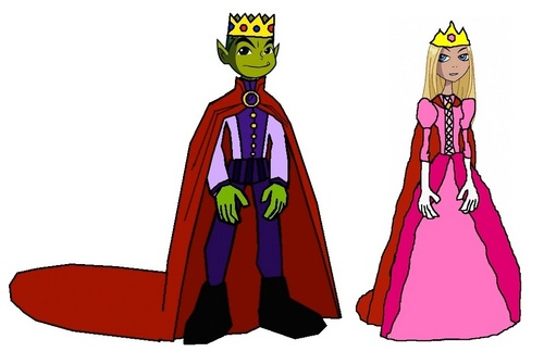 Teen Titans wallpaper called Prince Beast Boy and Princess Terra