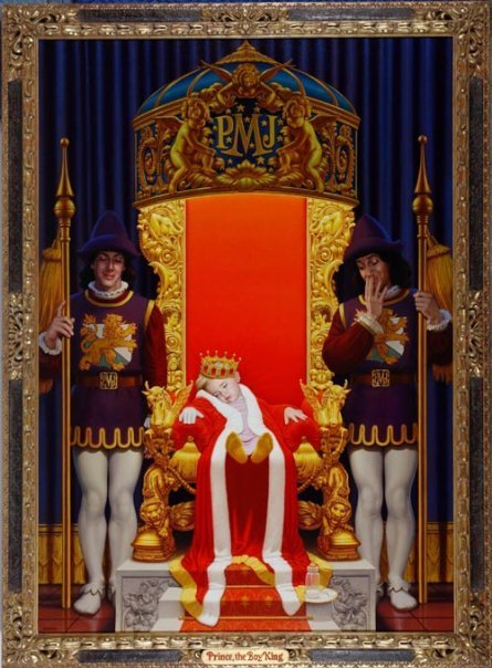 Prince on throne