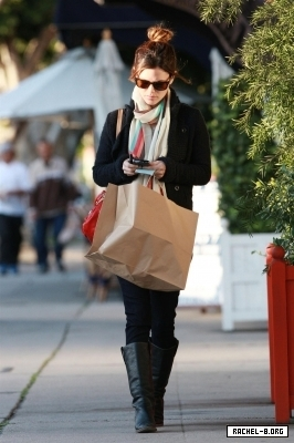 Rachel out in Hollywood.