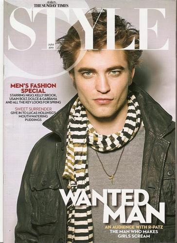 Robert Pattinson in Sunday Times Style Magazine