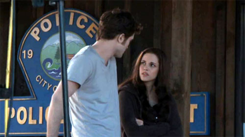 Robert and Kristen on the set of Eclipse