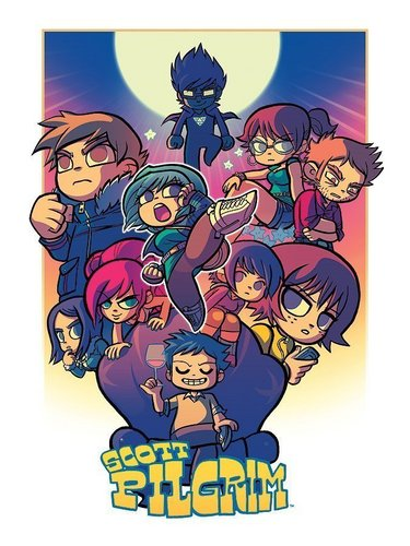 Scott Pilgrim wallpaper entitled Scott Pilgrim Cast Poster