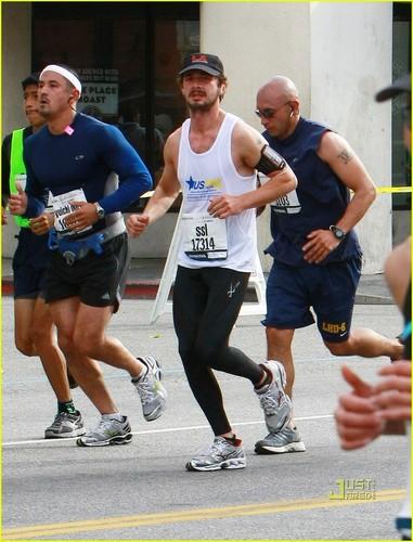 Shia Running LA Marathon