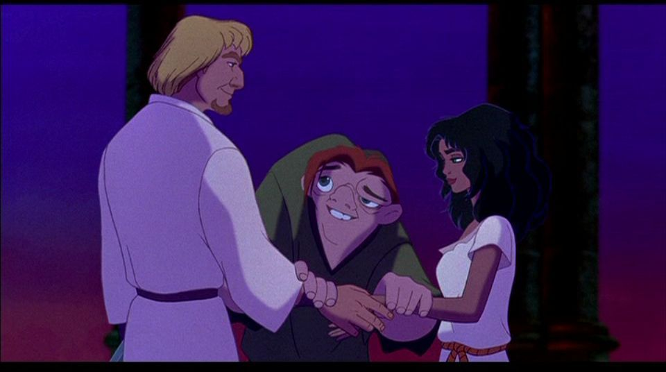 the hunchback of notre dame disney Quasimodo leaves the solitary safety of his tower to save the city of paris from his master, frollo.