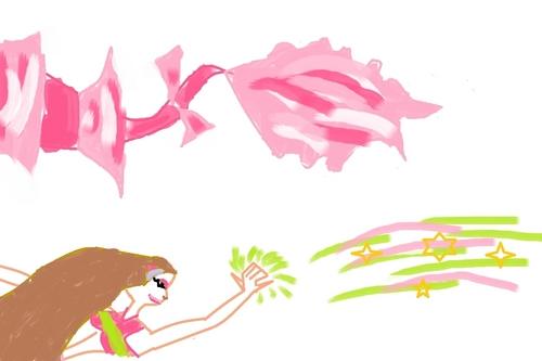 The long tail flora mermaid