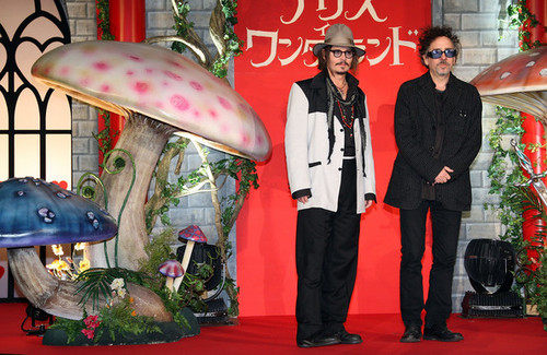 Tim burton & Johnny Depp @ the Japanese Premiere of Tim Burton's 'Alice In Wonderland'