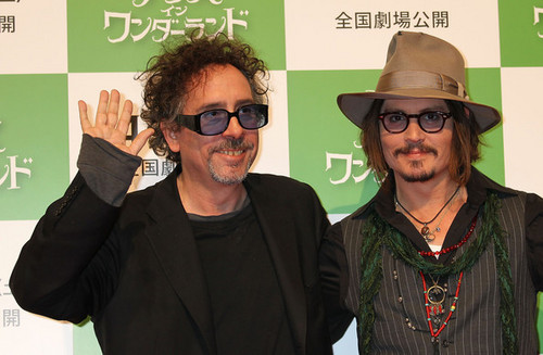 Tim Burton, with Johnny Depp @ the Japanese Press Conference for 'Alice In Wonderland'