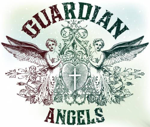 Vintage emblem Guardian anges