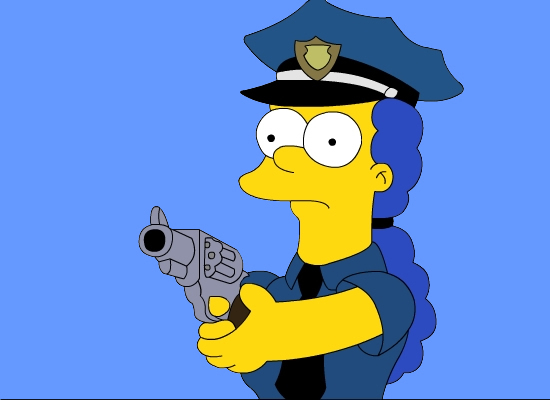 The simpsons images marge police wallpaper and background photos 11049221 - Police simpsons ...