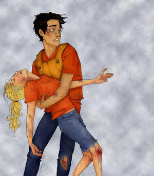 Percabeth!!!!! wallpaper called through the tough times